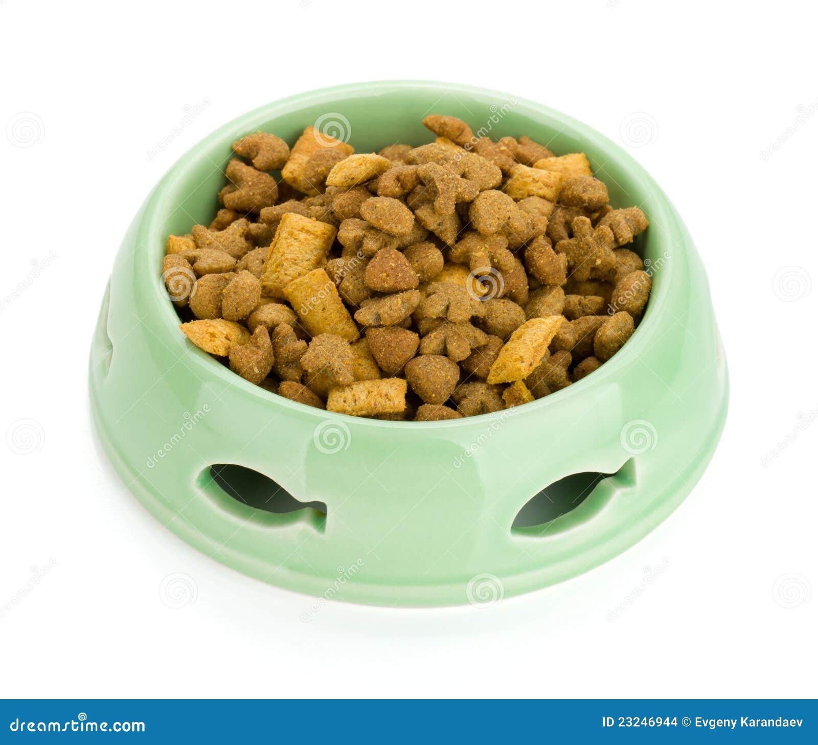 Comida para gatos en un taz n de fuente foto de archivo - Fotos de comodas ...