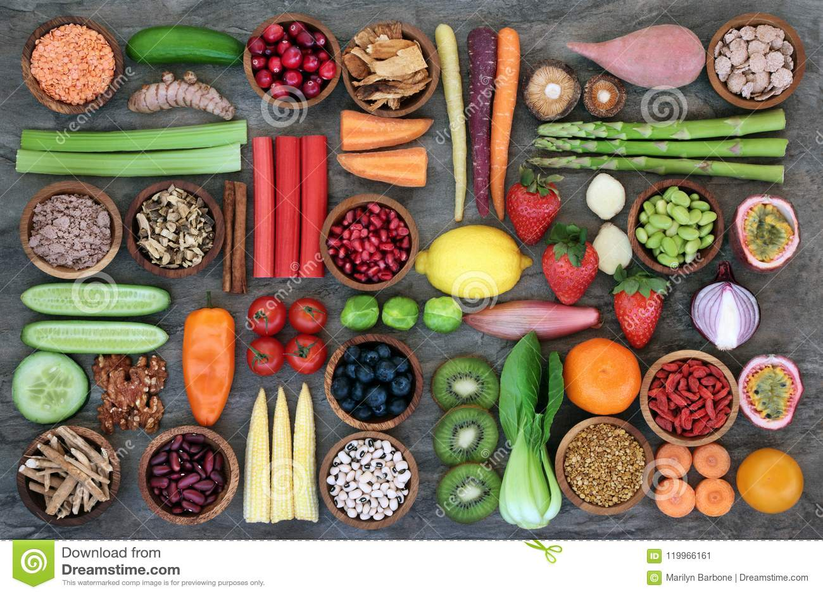 Comida sana para la consumición sana