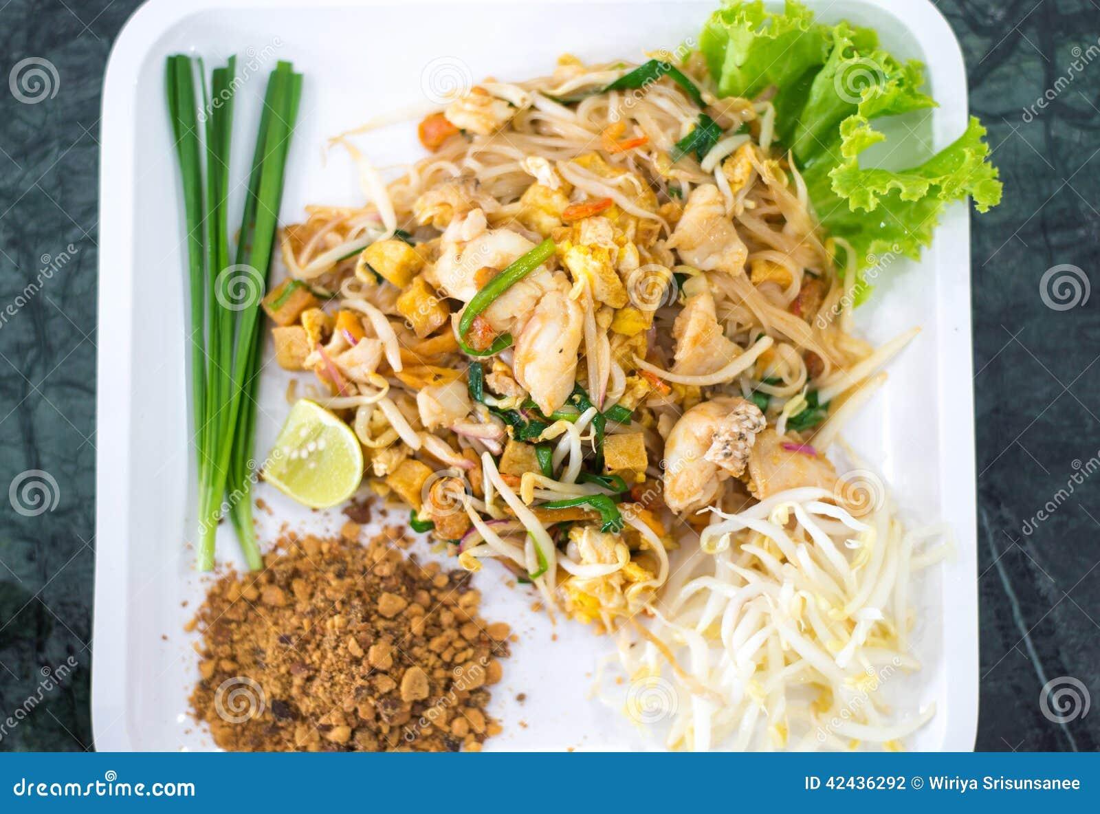 Comida tailandesa de los tallarines del estilo