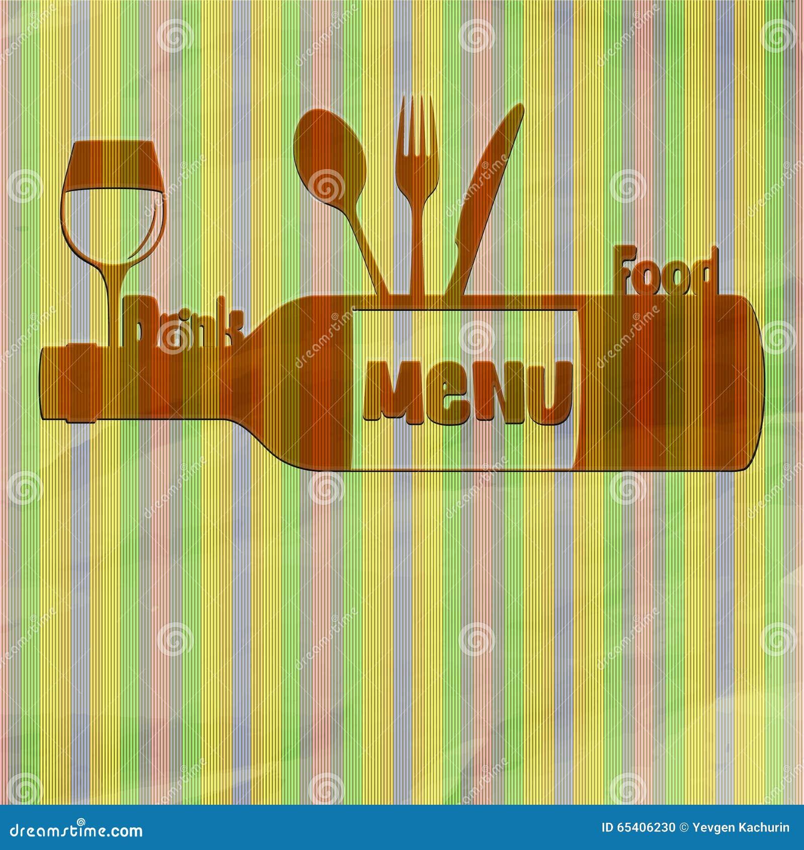 Comida y bebida del menú del restaurante