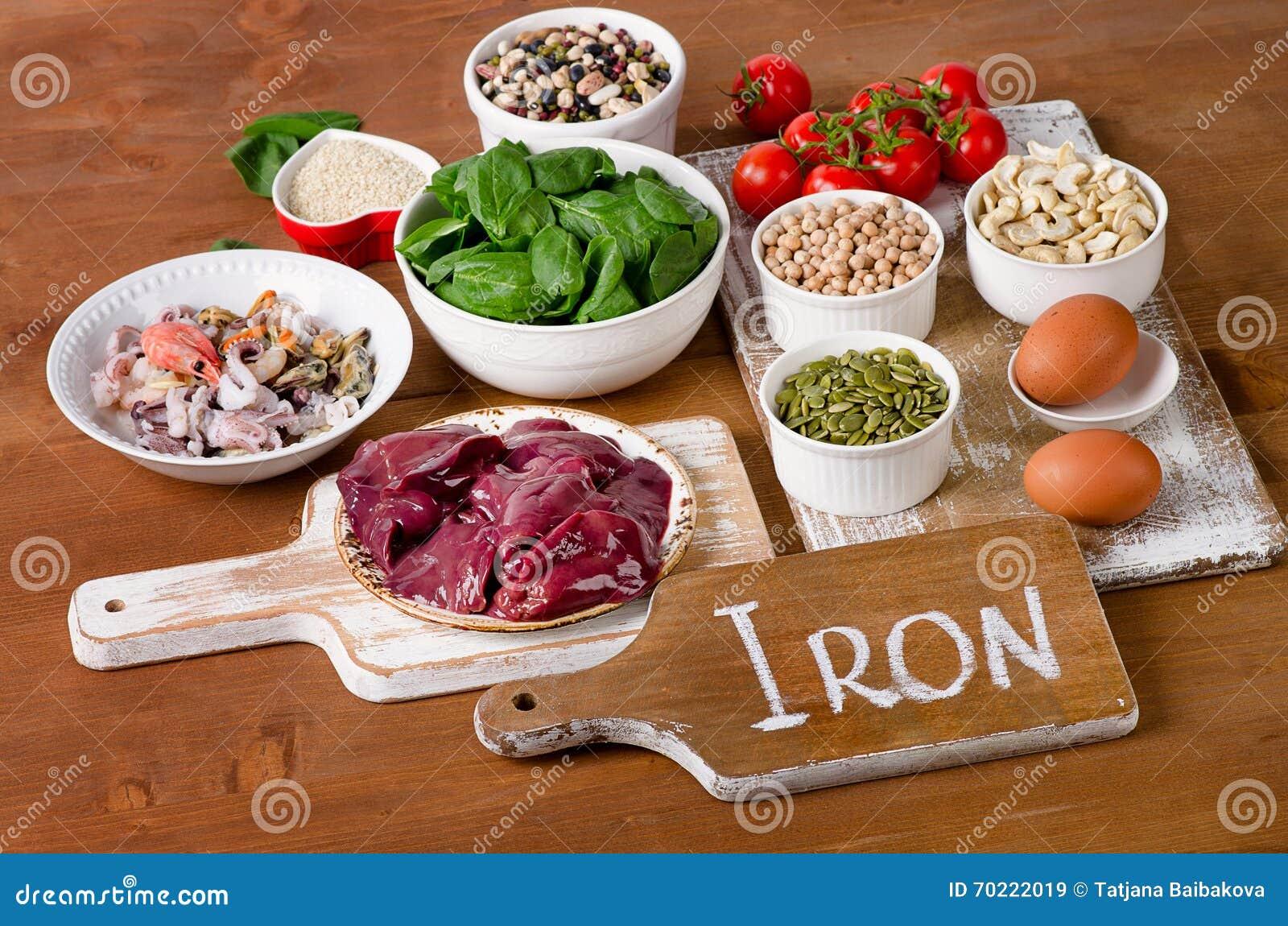 Comidas altas en hierro