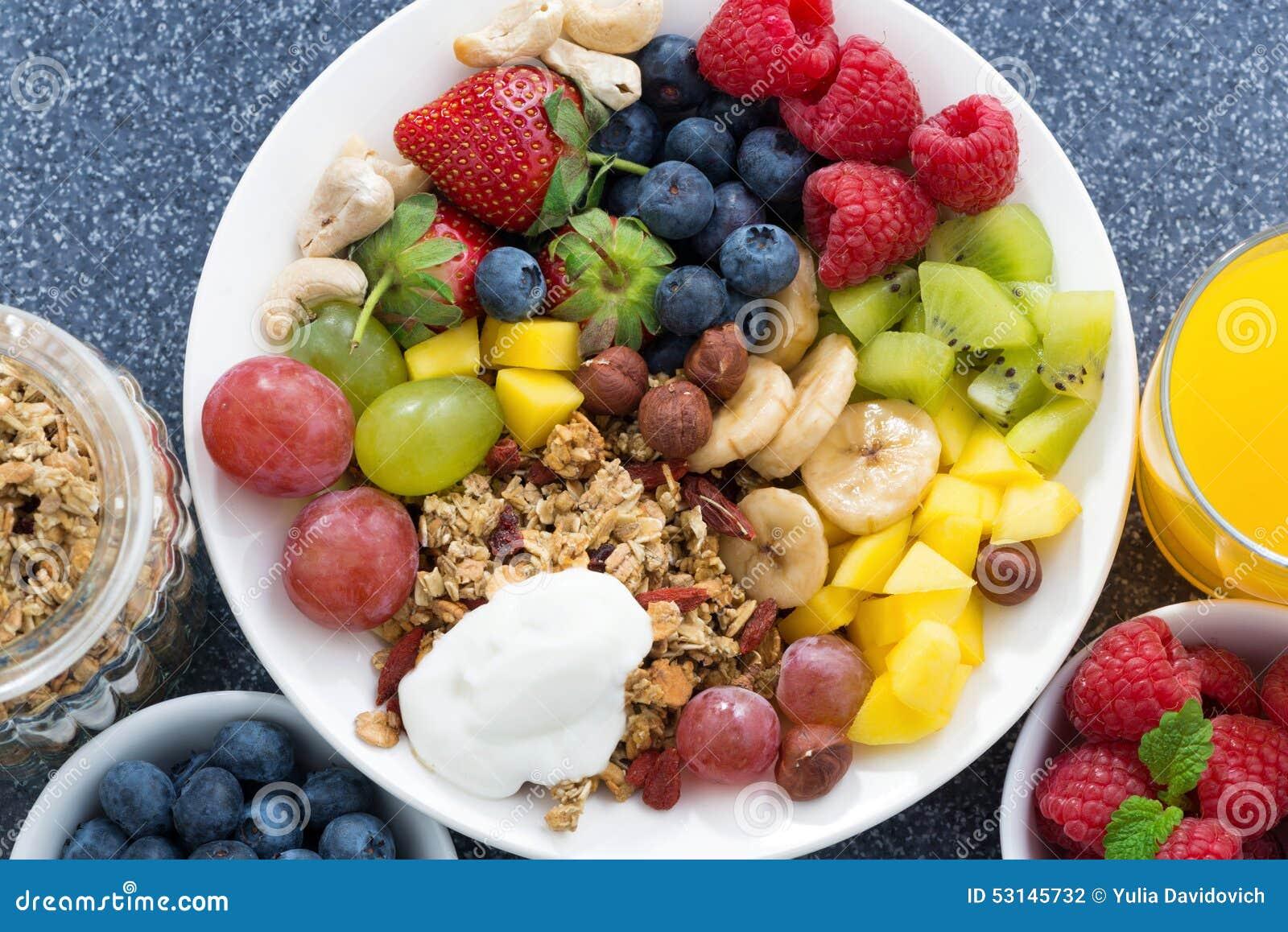 Comidas frescas para un desayuno sano bayas frutas for Comidas frescas