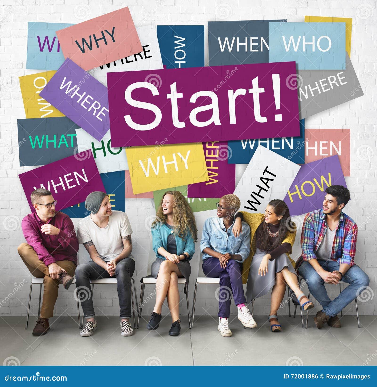 Comience a comenzar concepto de lanzamiento de la motivación del lanzamiento adelante