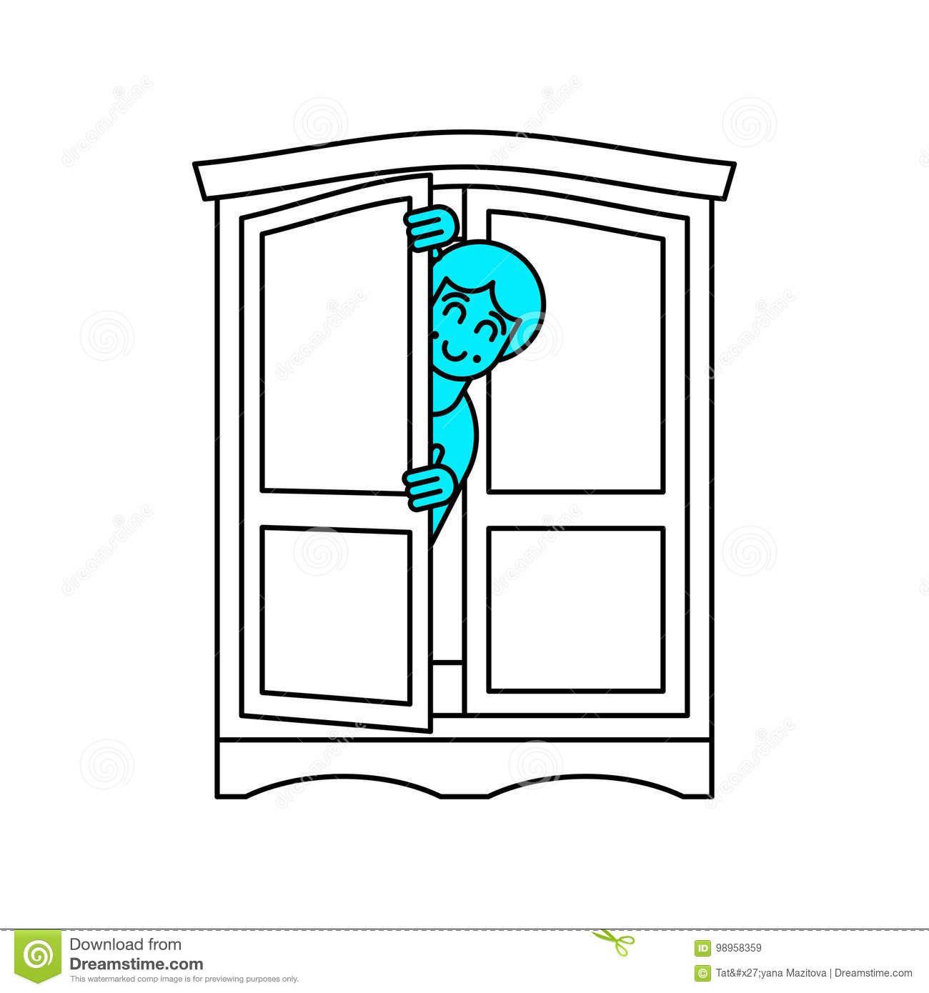 coming out wardrobe lgbt symbol open closet door get out of wa