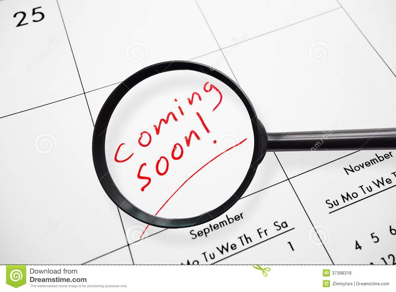 Coming Soon Calendario.Coming Soon Enlarged Stock Photo Image Of Date Opening