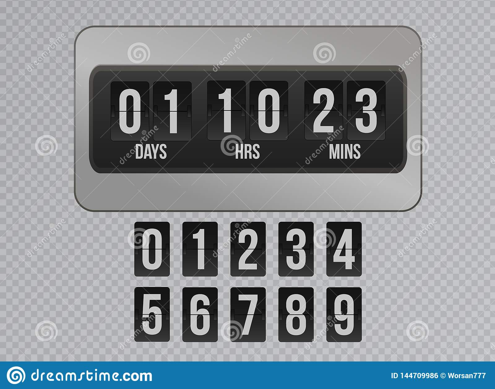 Coming Soon Flip Clock Timer Countdown On Gray Background  Website
