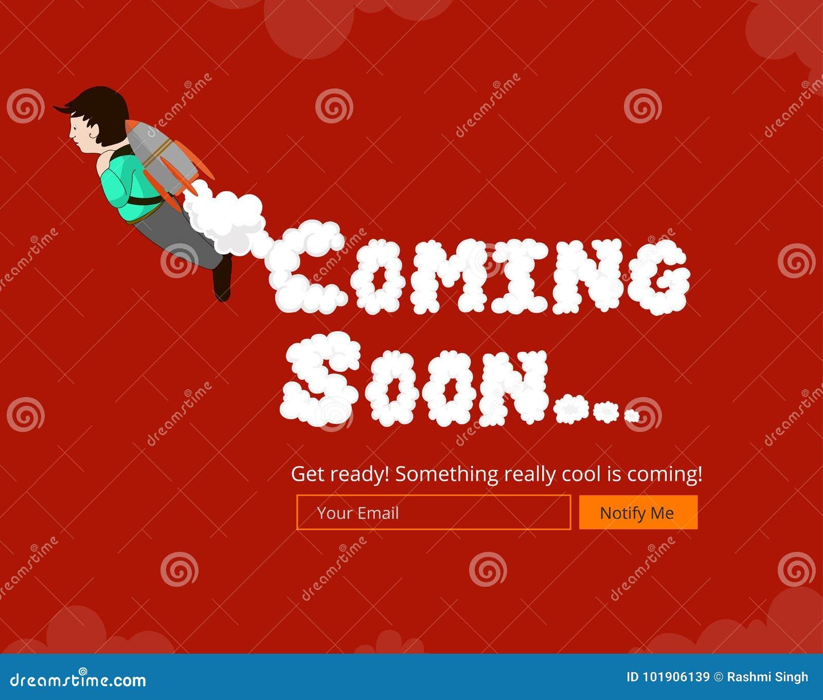 Coming soon website template stock vector illustration of landing coming soon website template maxwellsz