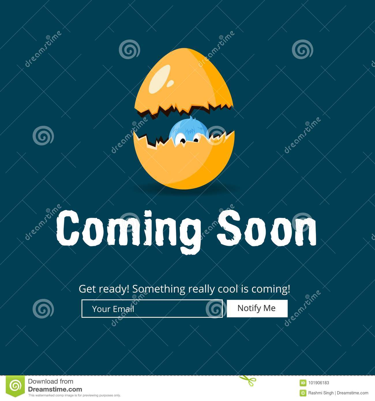 Coming Soon Website Template Stock Vector Illustration Of - Launch page template