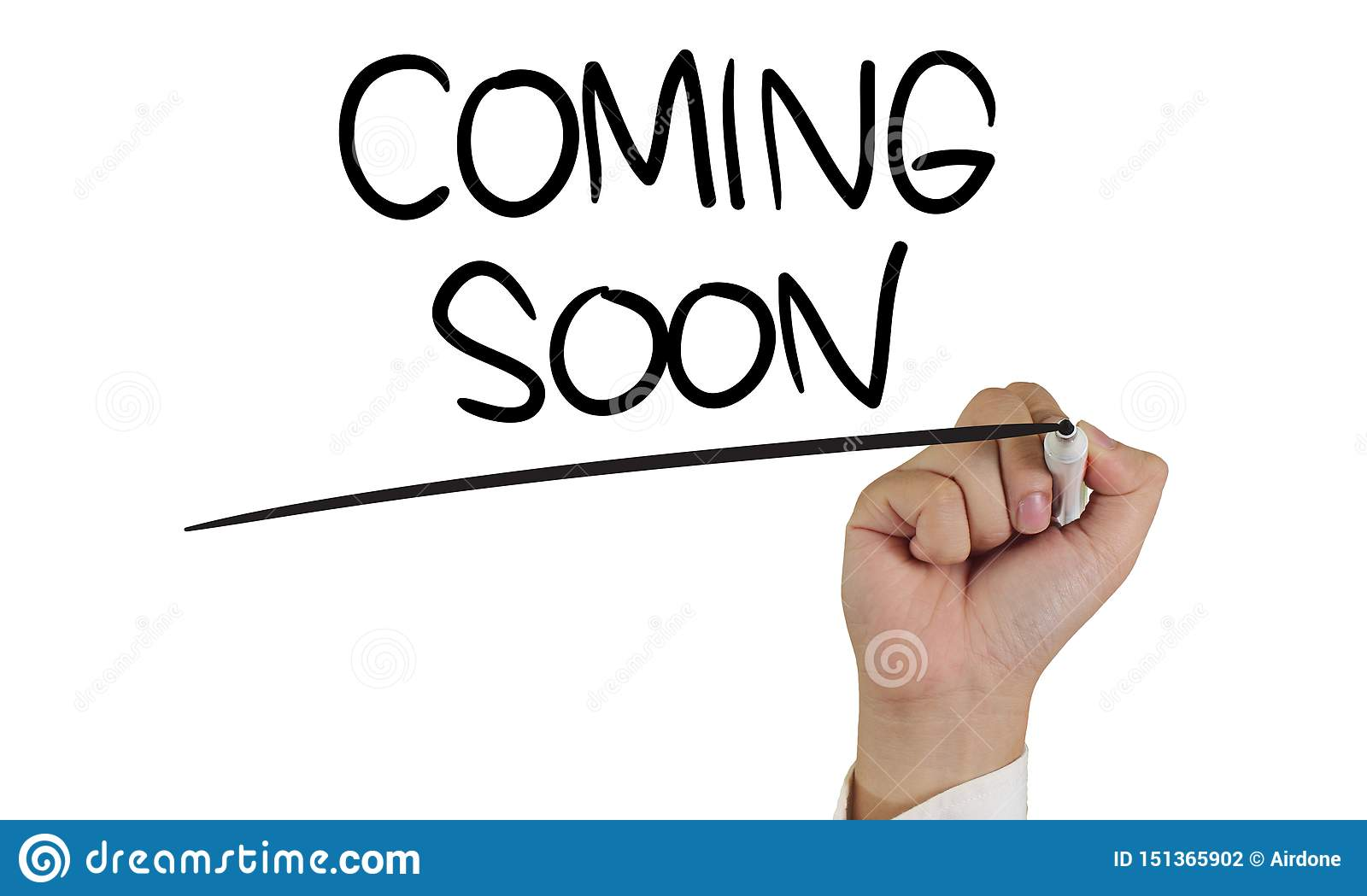 Coming Soon Words Typography Concept Stock Photo Image Of Notice Development 151365902