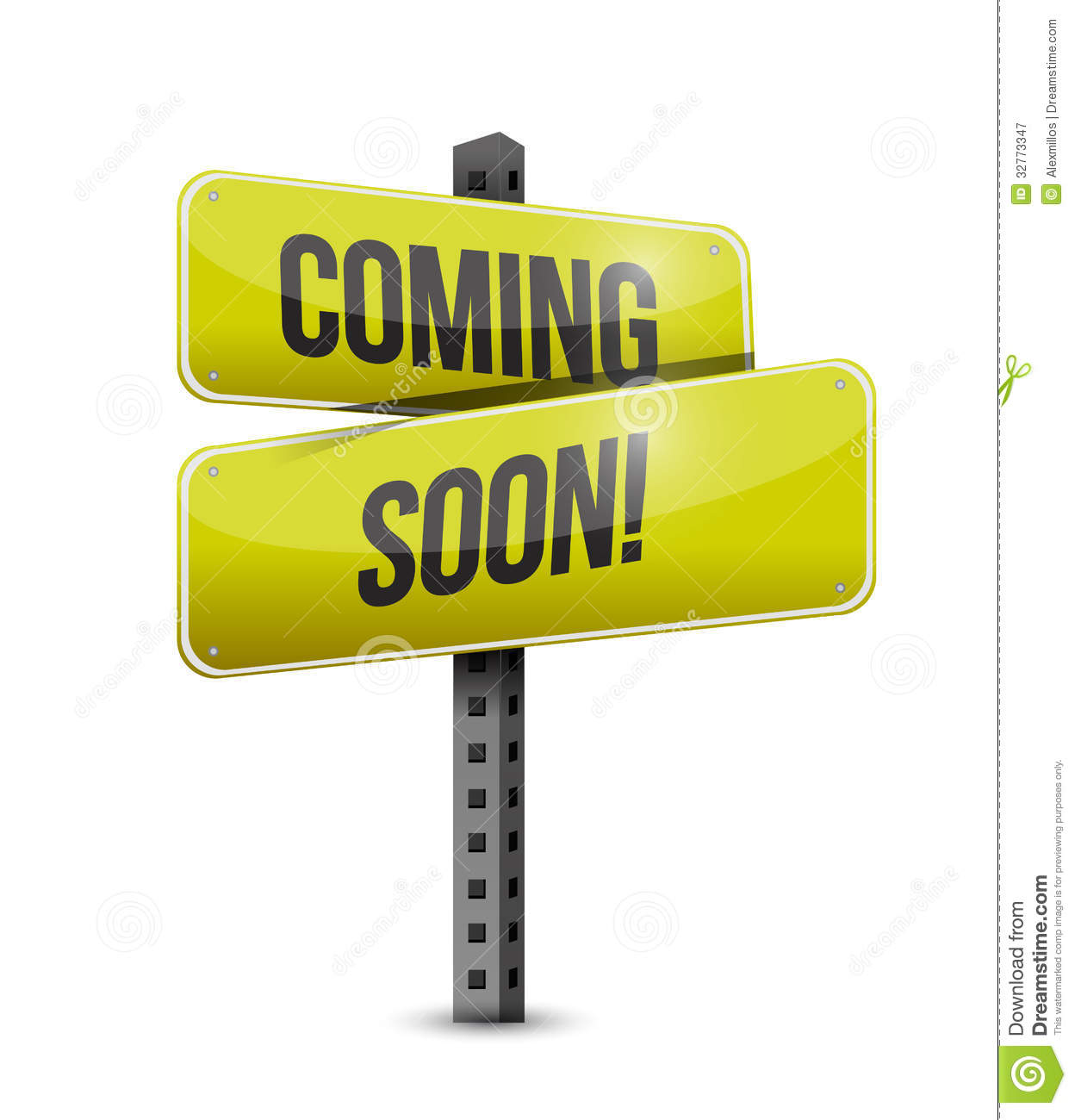 Coming Soon Road Sign Illustration Design Stock