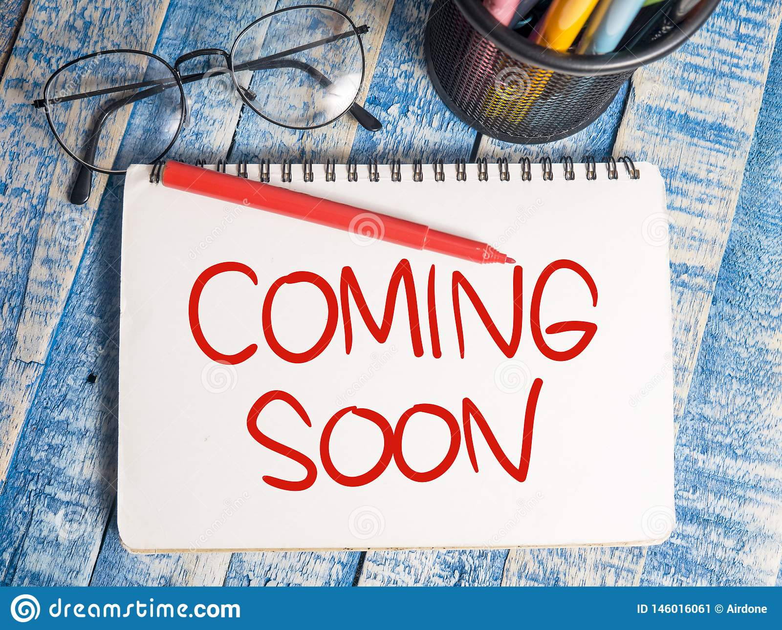 Coming Soon Words Typography Concept Stock Image Image Of Open Concept 146016061