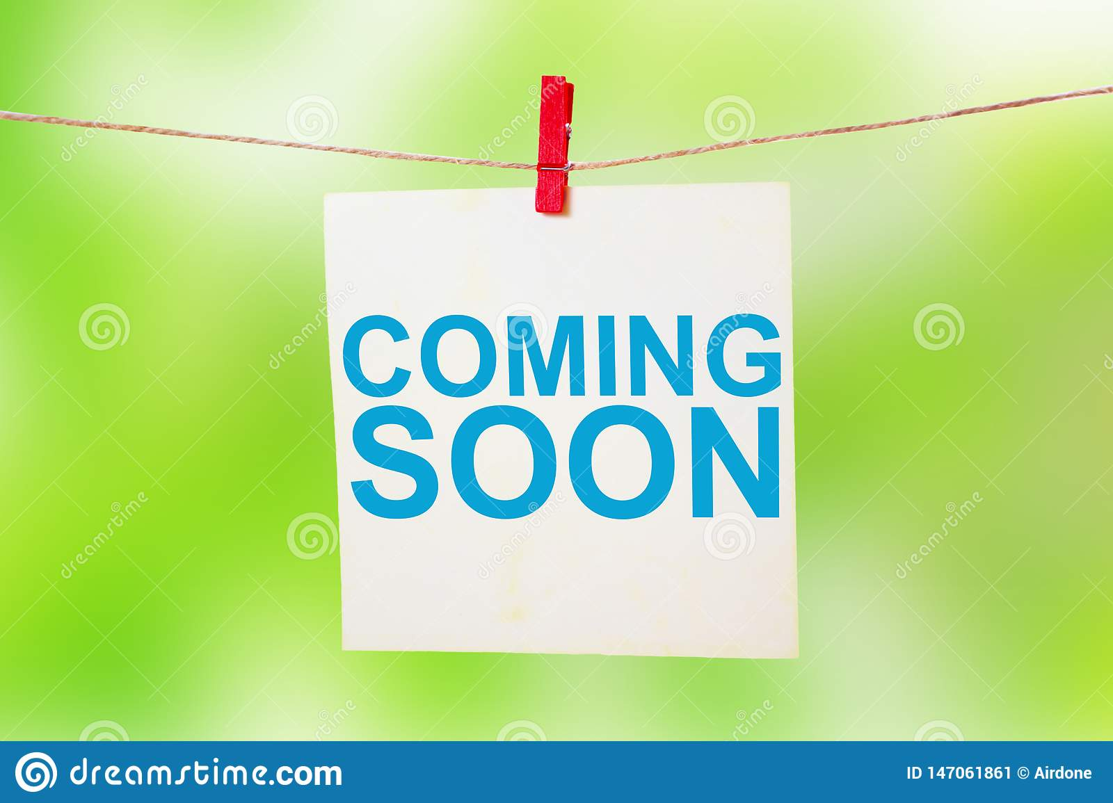Coming Soon Words Typography Concept Stock Image Image Of Information Commerce 147061861
