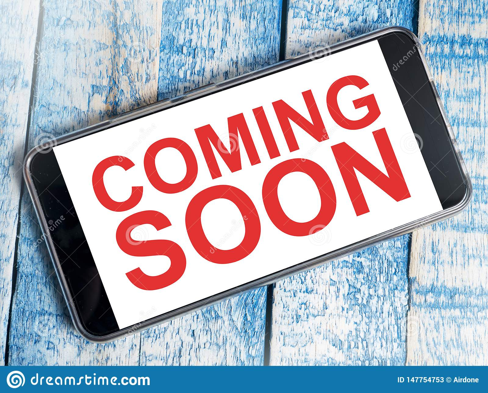 Coming Soon Words Typography Concept Stock Image Image Of Text Product 147754753