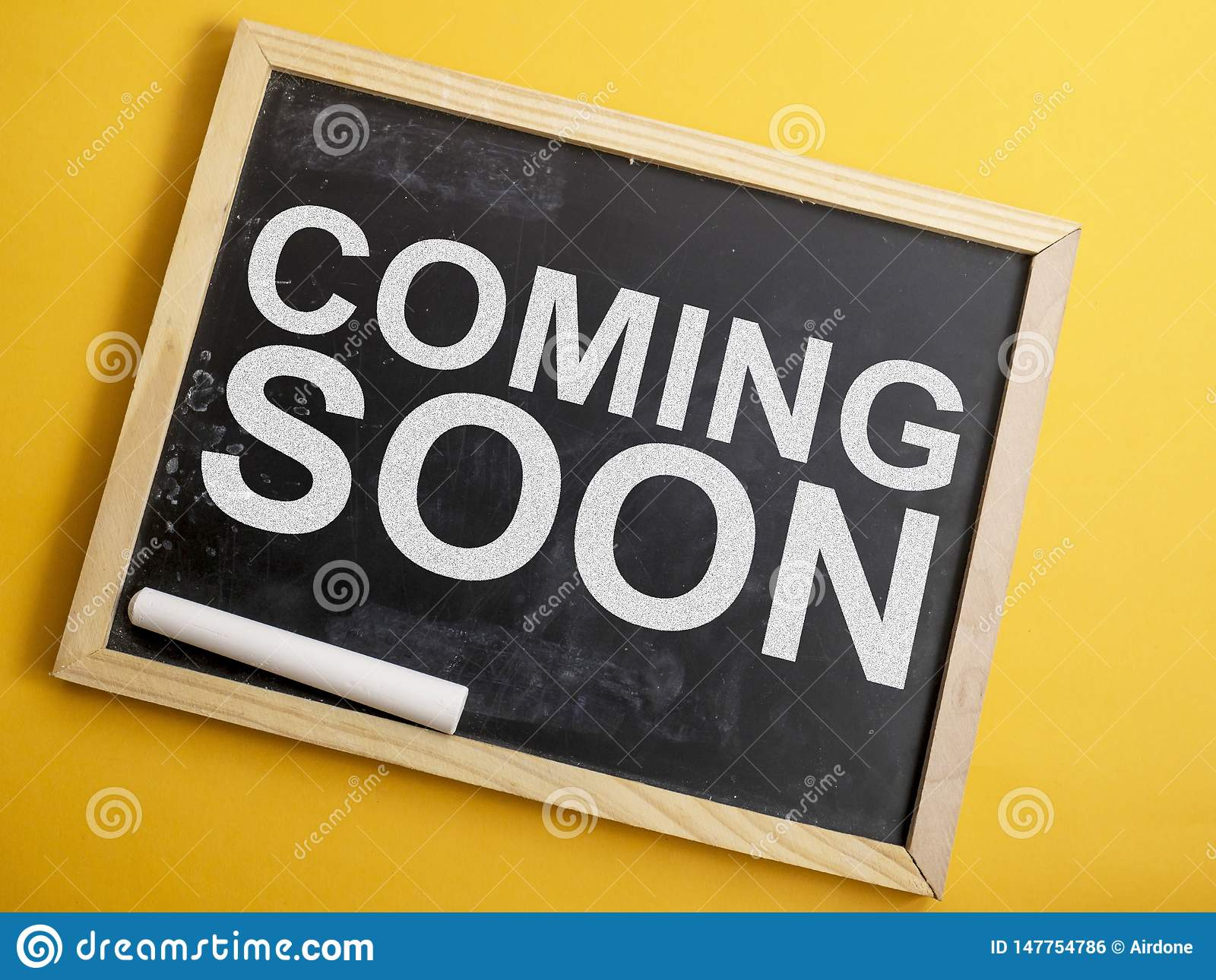 Coming Soon Words Typography Concept Stock Photo Image Of Promotion Launch 147754786