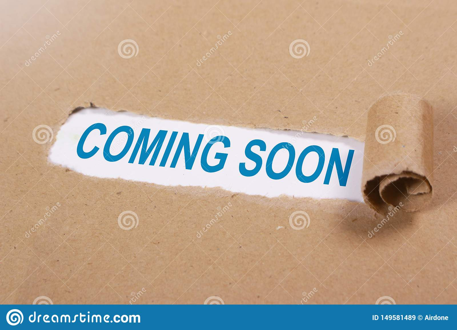 Coming Soon Words Typography Concept Stock Image Image Of Notification Development 149581489
