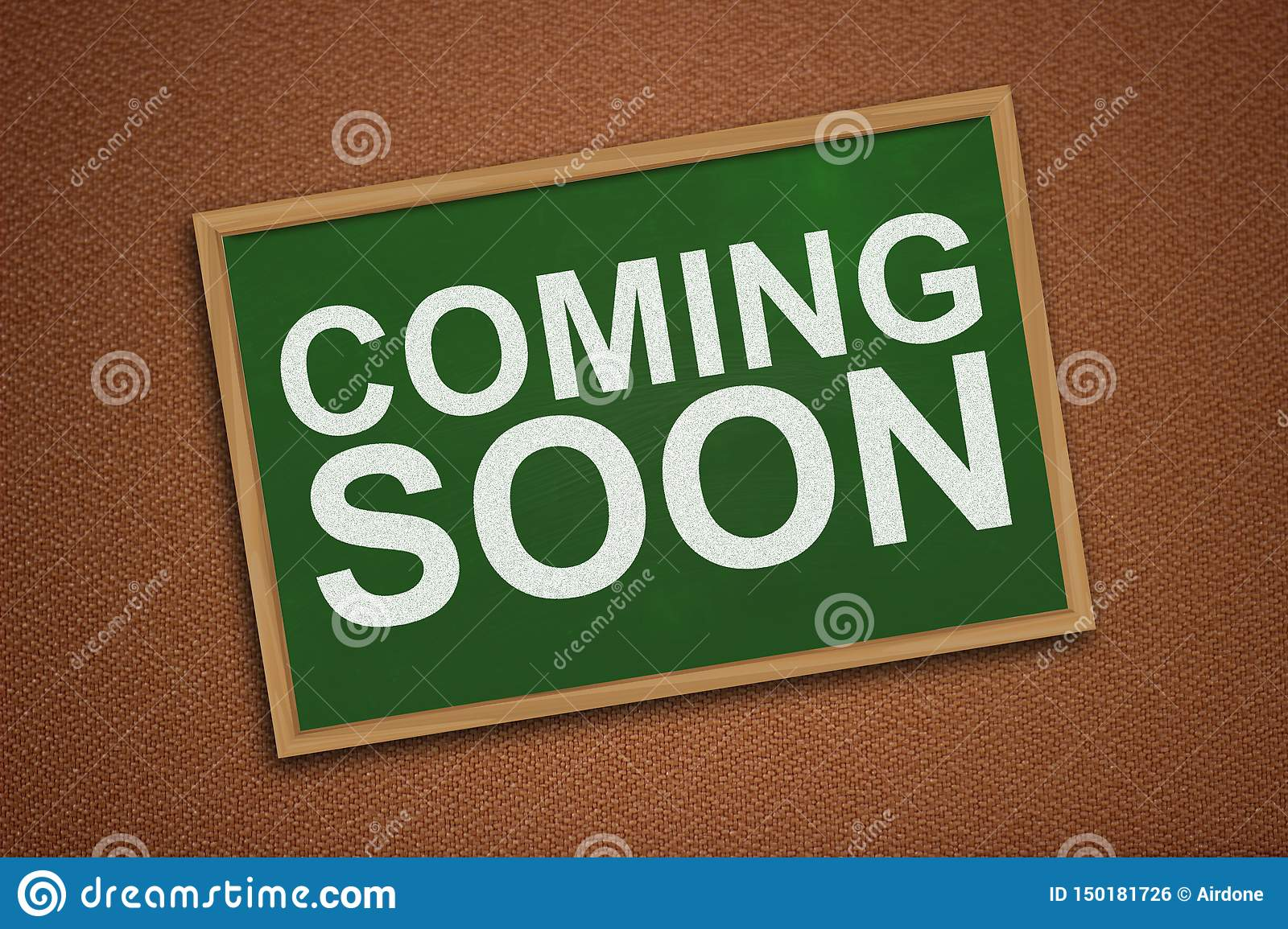 Coming Soon Words Typography Concept Stock Photo Image Of Promotion Communication 150181726
