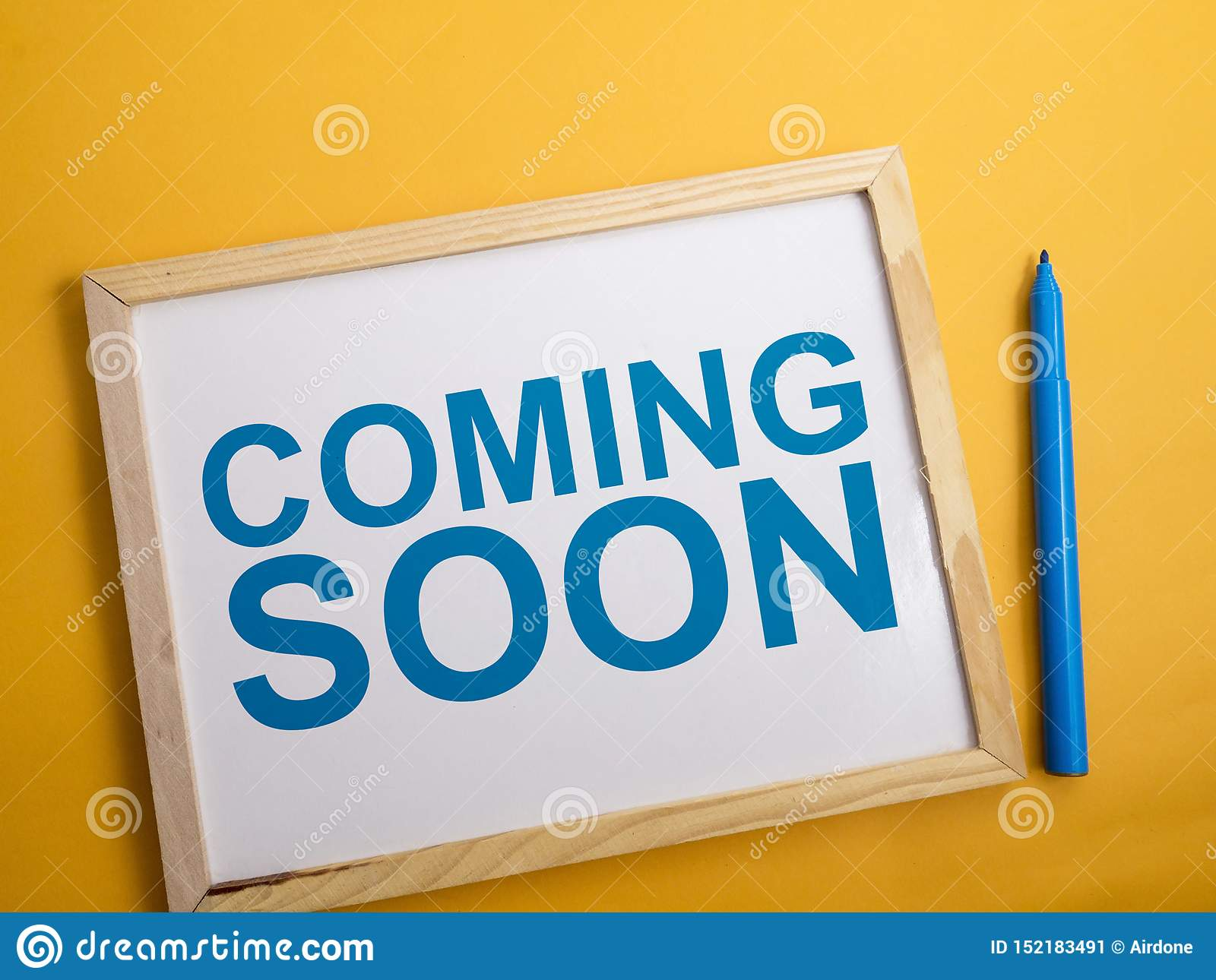 Coming Soon Words Typography Concept Stock Image Image Of Word Advertising 152183491