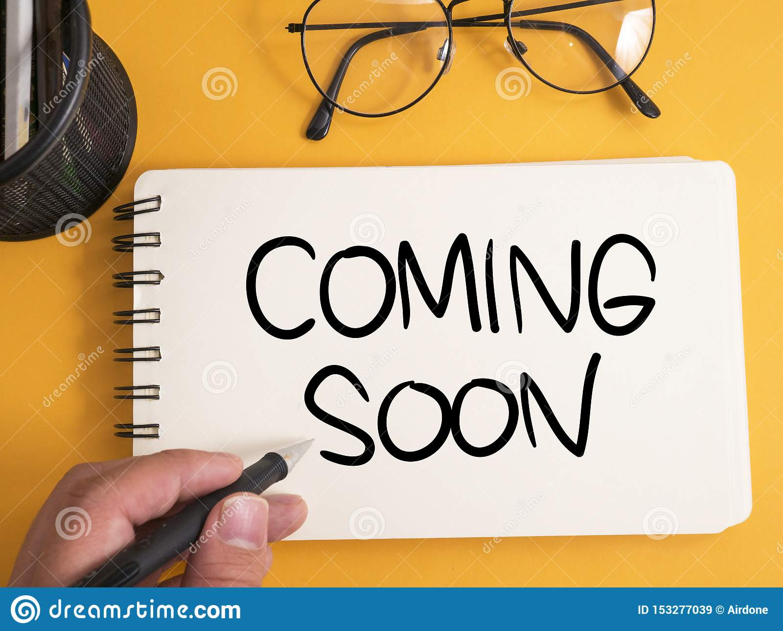 Coming Soon Words Typography Concept Stock Image Image Of Coming Promote 153277039