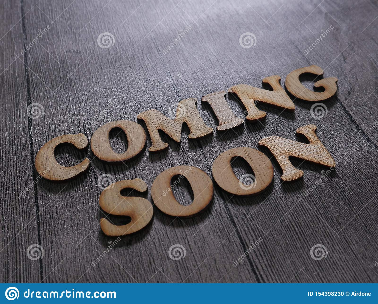 Coming Soon Words Typography Concept Stock Photo Image Of Advertise Information 154398230