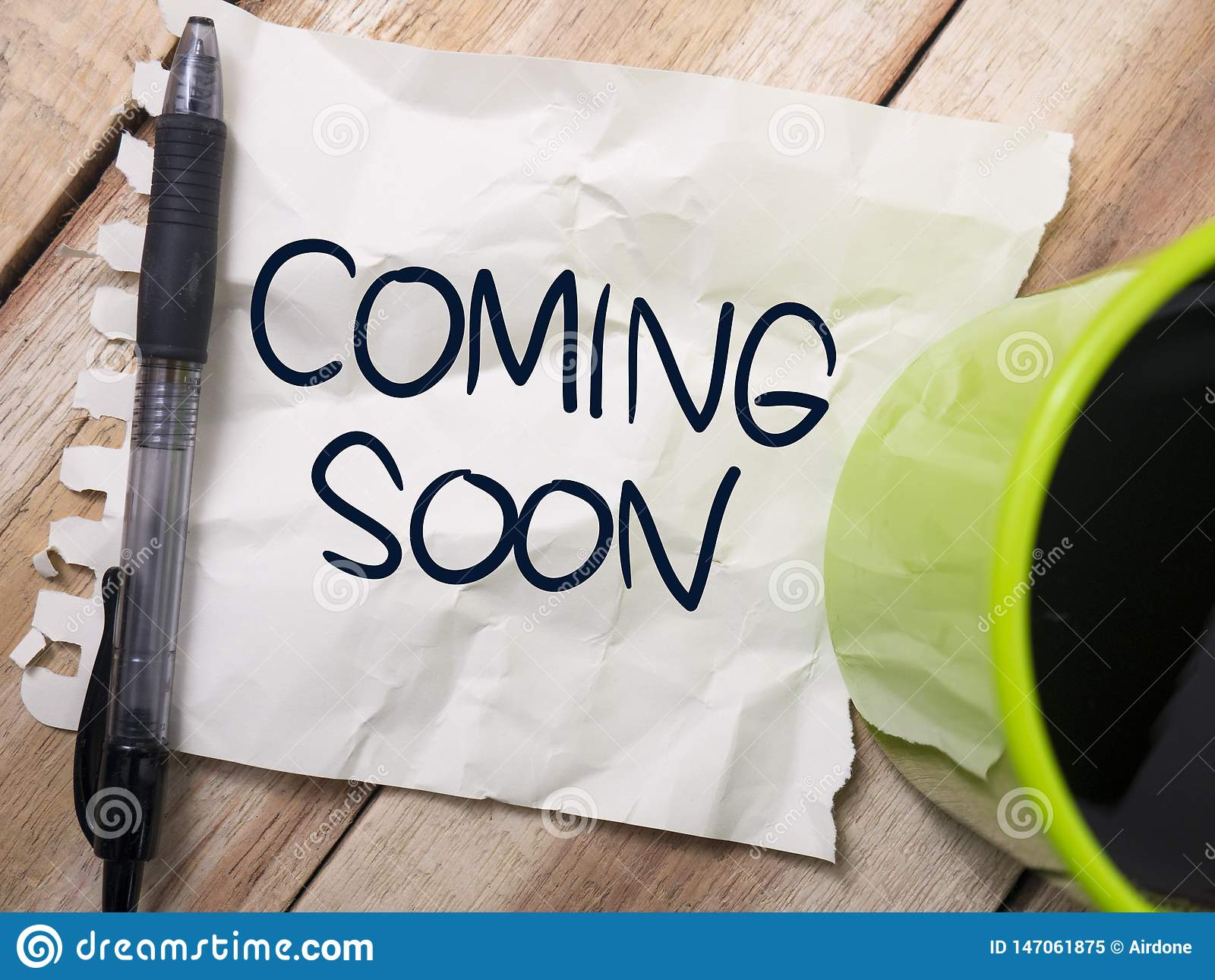 Coming Soon Words Typography Concept Stock Image Image Of Business Label 147061875