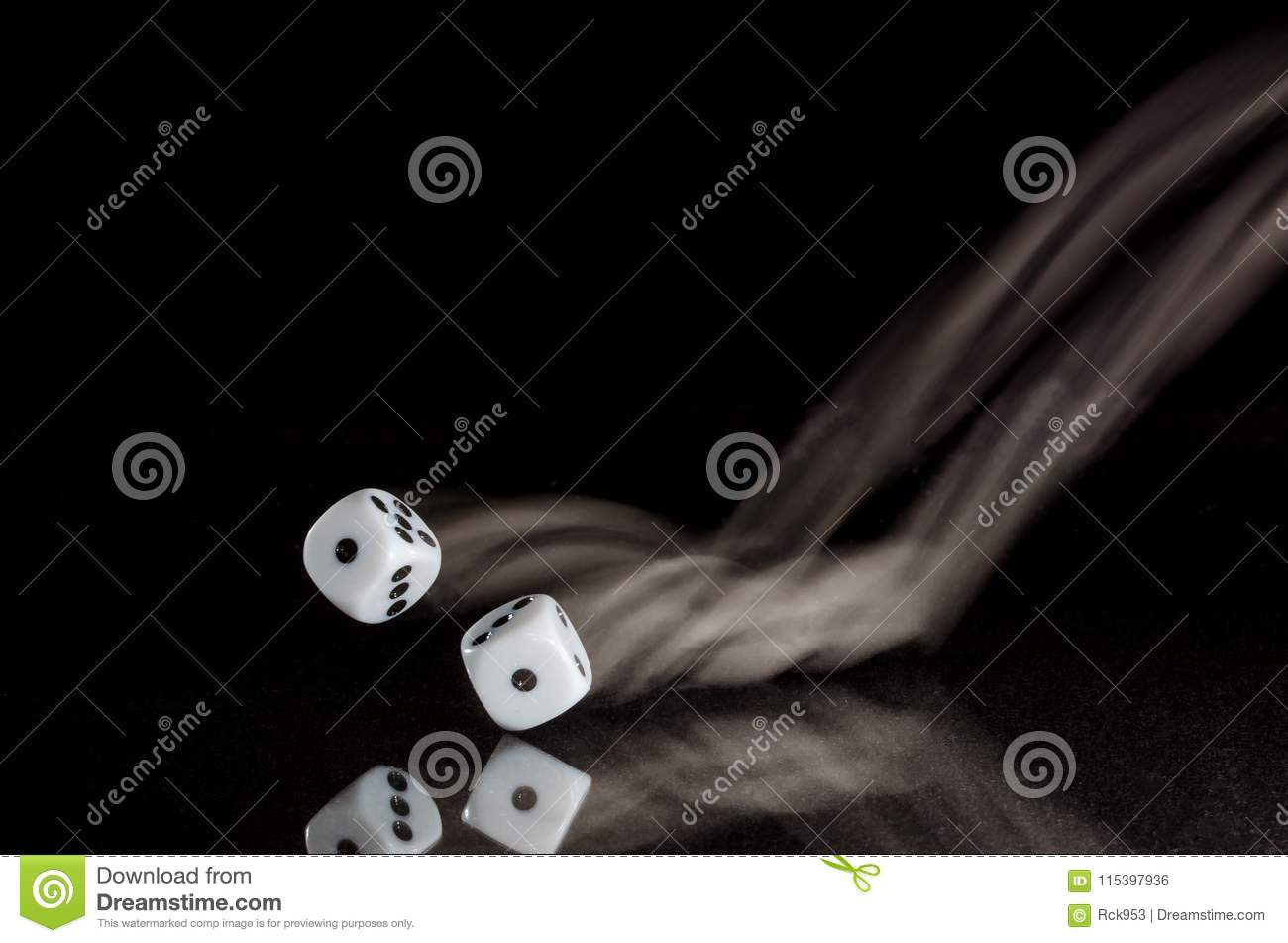 Coming Up Snake Eyes On A Roll Of The Dice Stock Photo Image Of