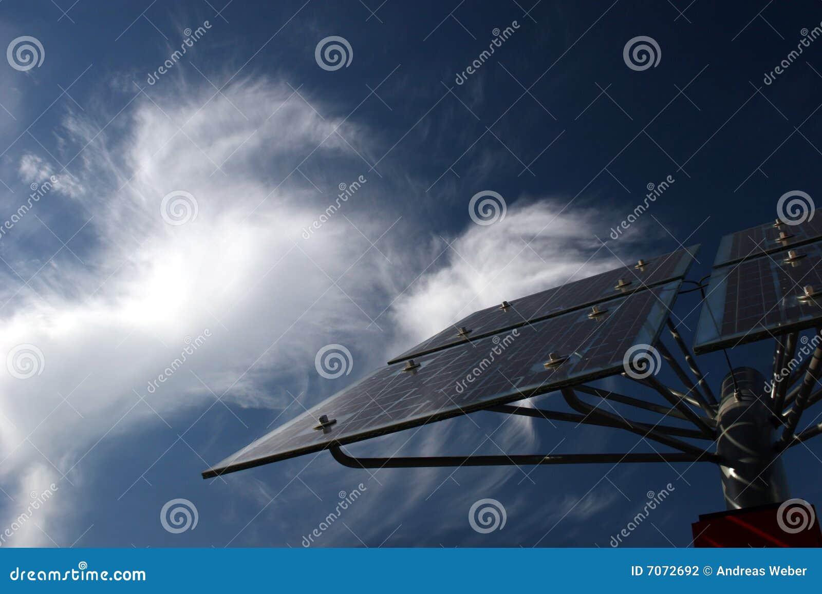 Comitati solari davanti alle nubi di cirro
