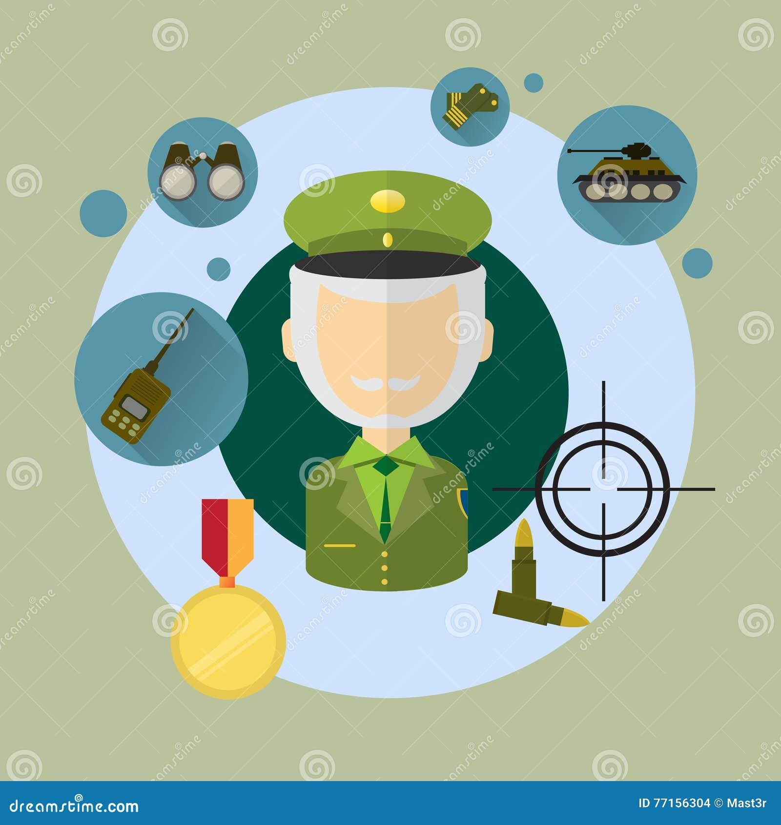 Commandant Icon de militaire