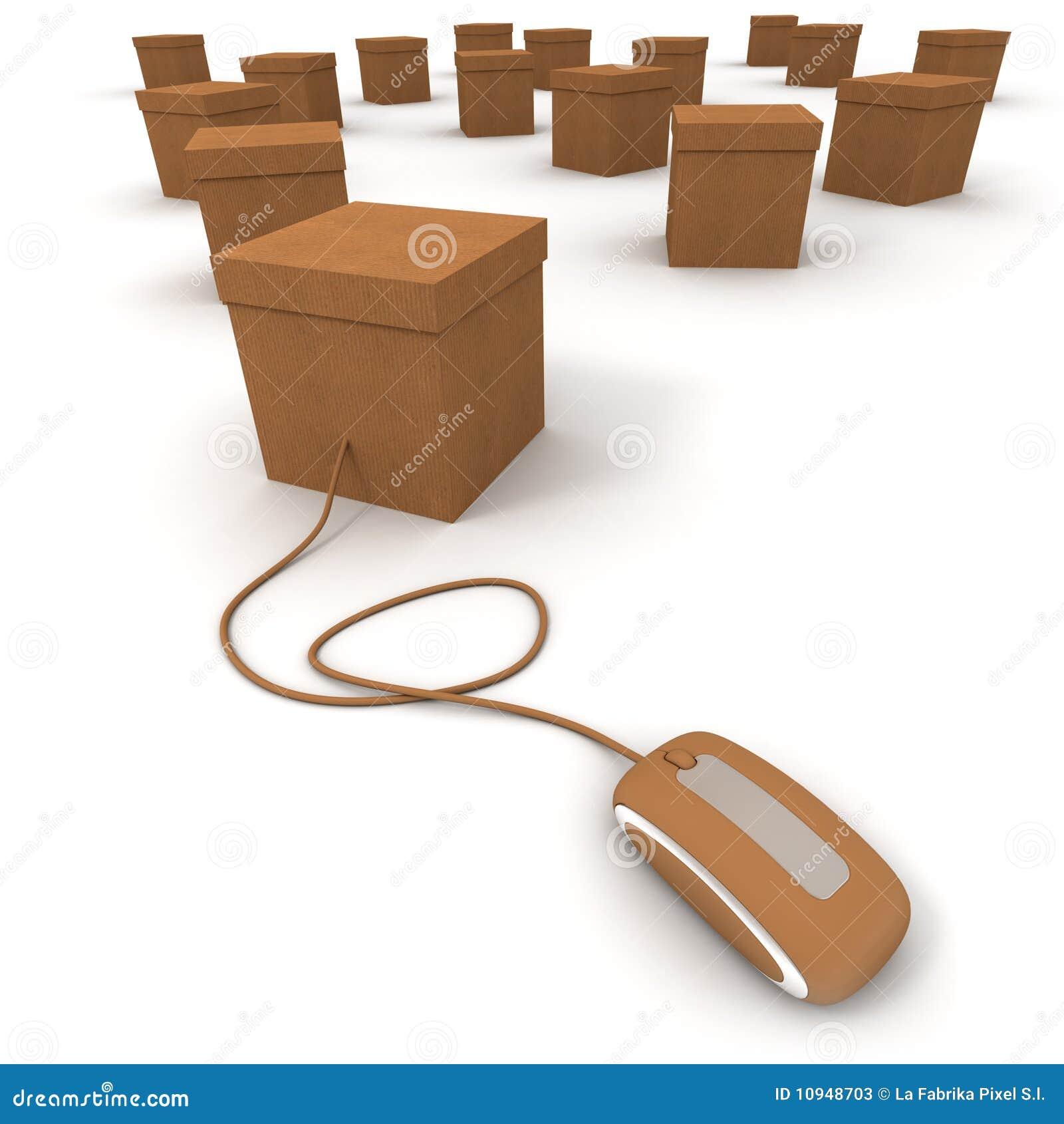 commande en ligne illustration stock illustration du delivery 10948703. Black Bedroom Furniture Sets. Home Design Ideas