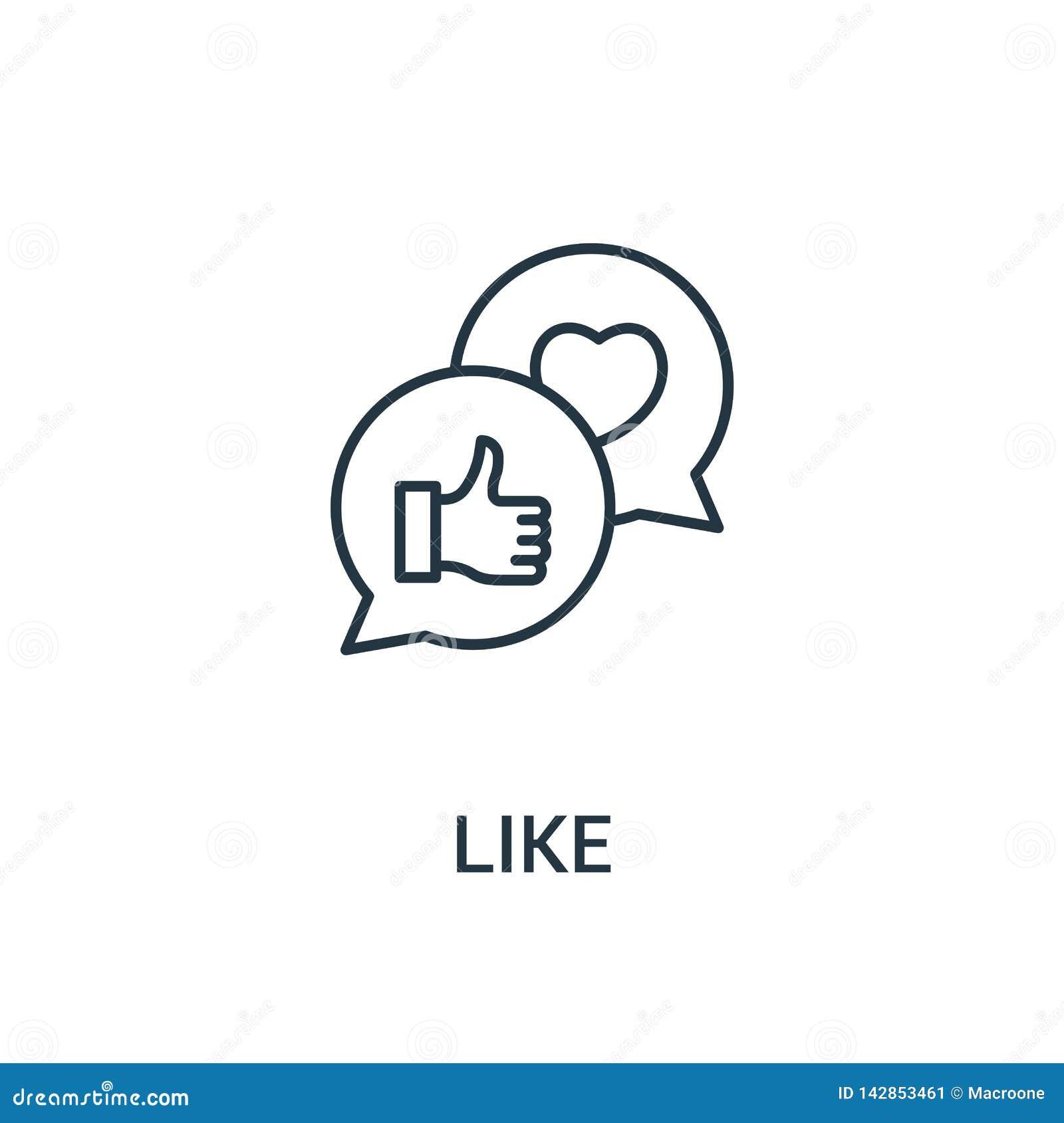 Comme le vecteur d icône de la collection d annonces Ligne mince comme l illustration de vecteur d icône d ensemble Symbole linéa