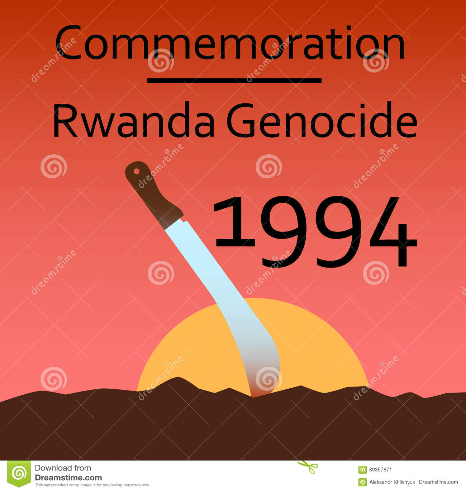 commemoration rwanda genocide stock image image of bosnia ethnic