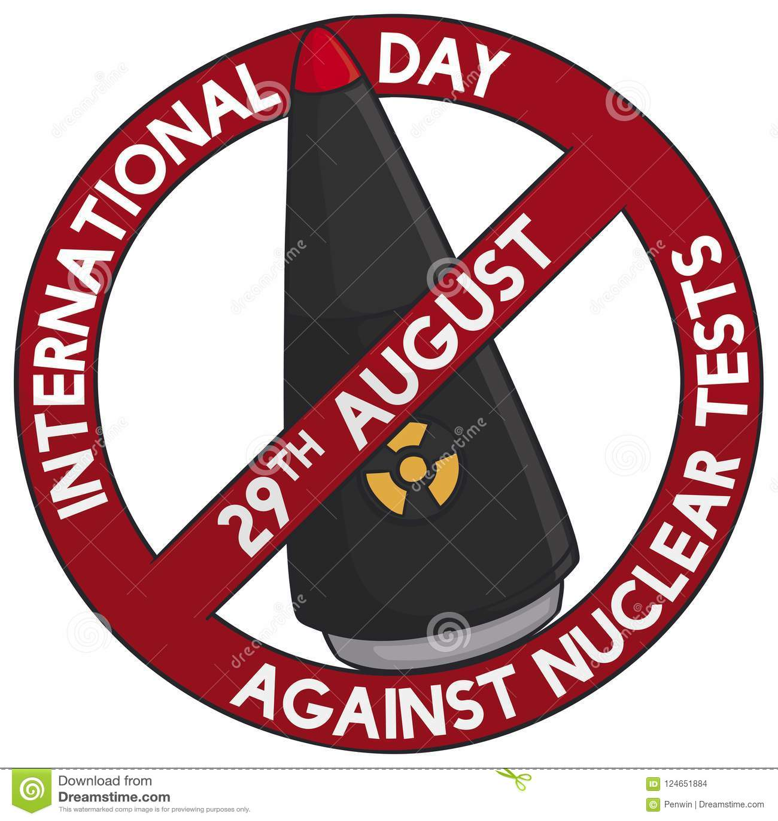 Warhead Inside Forbidden Symbol For International Day Against