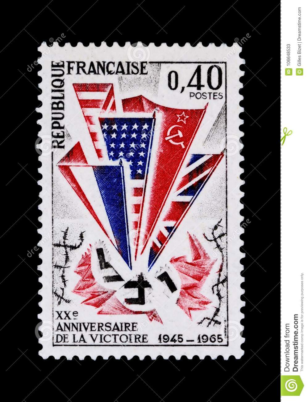 d711c42ba37b Commemorative Stamp Of The Victory Of 1945 Stock Image - Image of ...