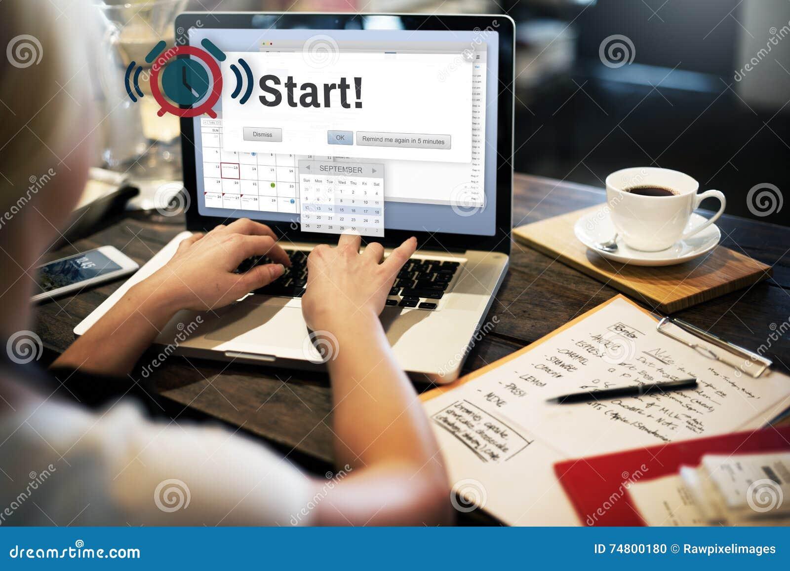 Commencez à commencer le premier concept d activation de lancement de démarrage en avant