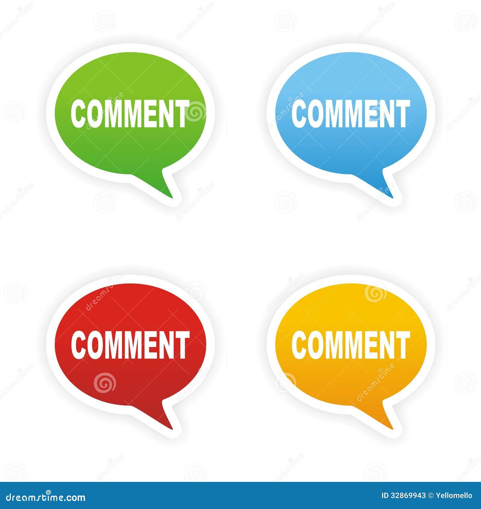 comment bubble text stickers stock photos image 32869943