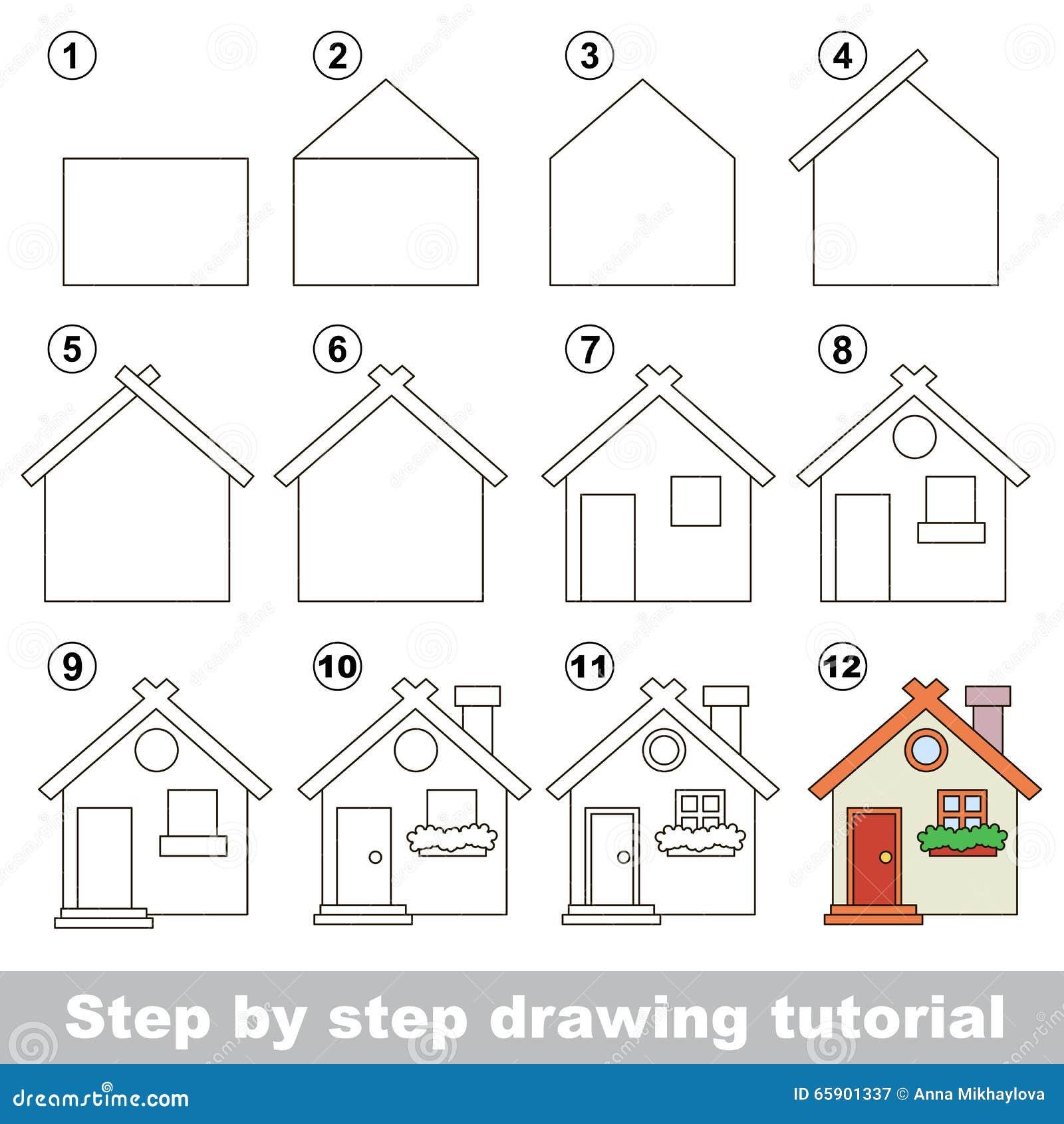 Comment dessiner toy house illustration de vecteur image for Building a home step by step