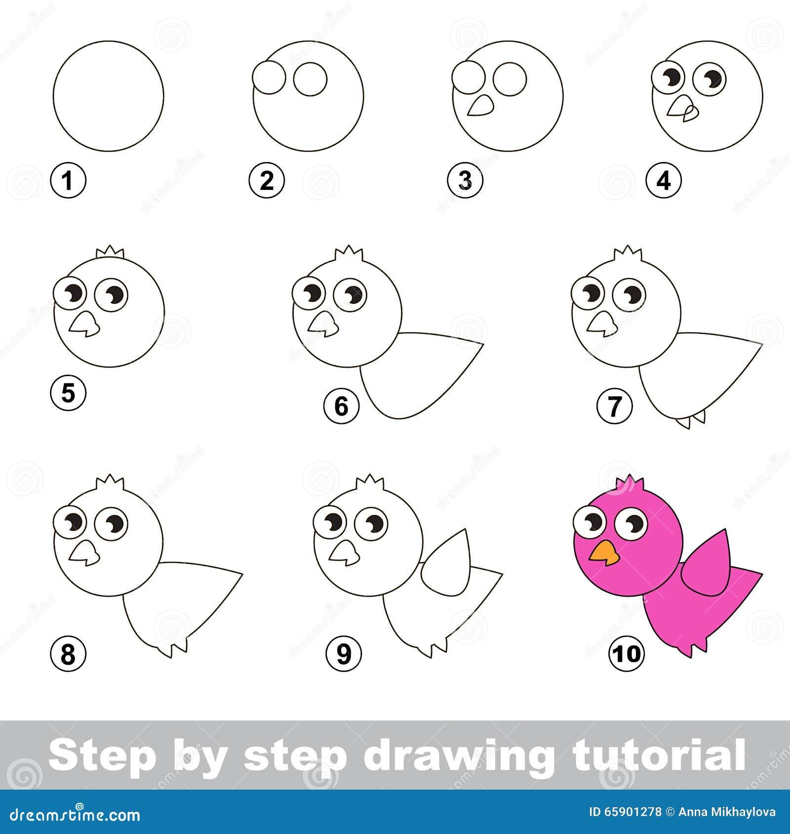 comment dessiner un oiseau rose illustration de vecteur illustration du cole comp tence. Black Bedroom Furniture Sets. Home Design Ideas