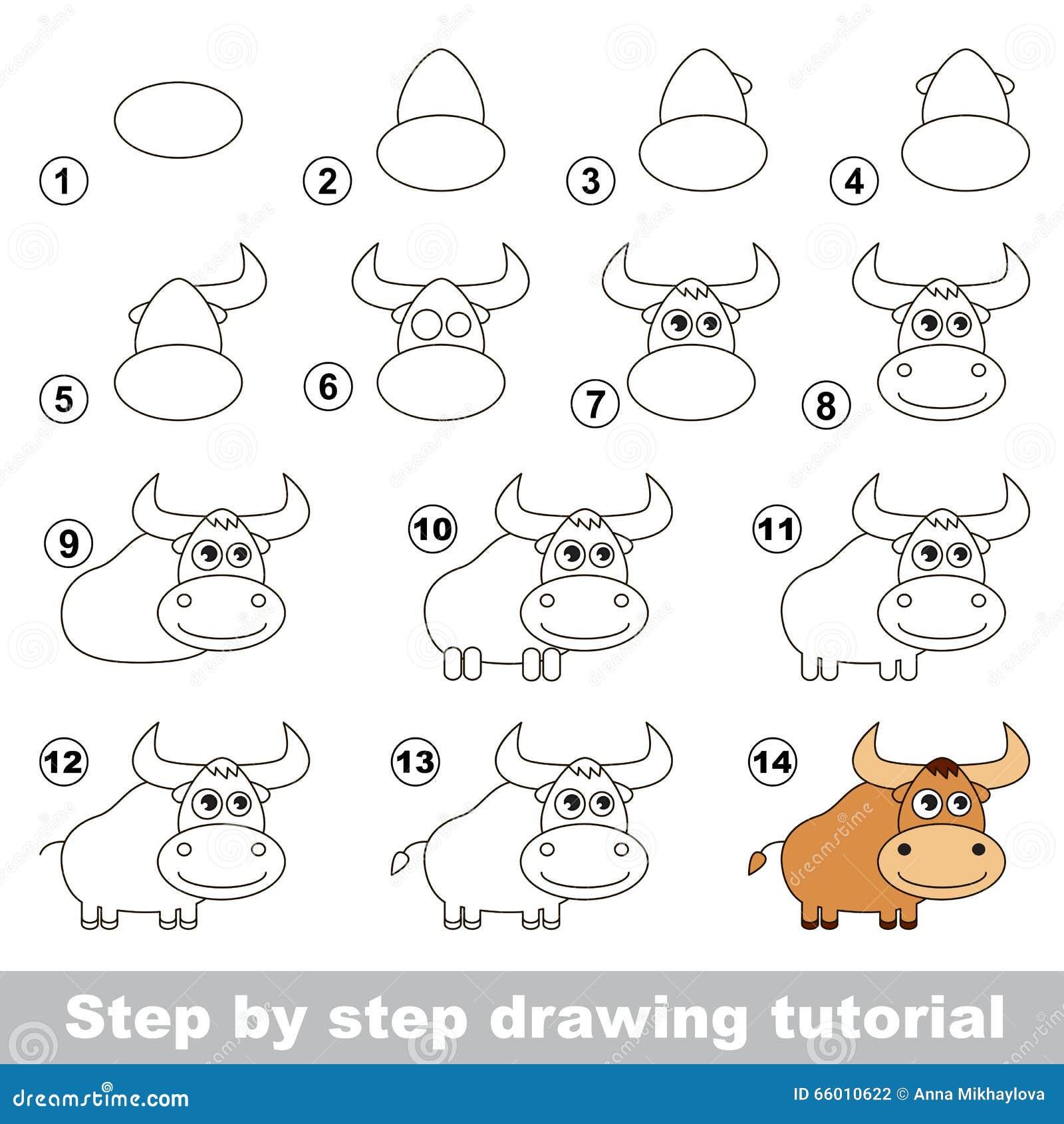 Comment dessiner un yak illustration de vecteur - Comment dessiner un marteau ...