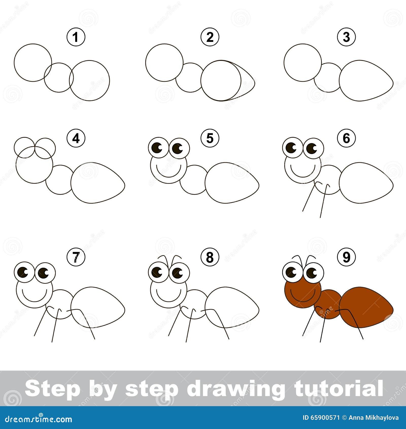 Comment dessiner une fourmi illustration de vecteur illustration du ducatif attraction 65900571 - Comment dessiner une fourmi ...