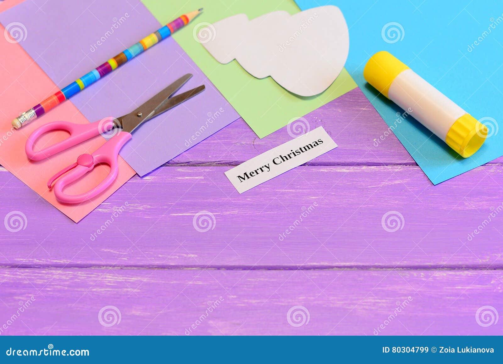Comment Faire Des Arbres En Papier avec comment faire à carte de voeux de papier le joyeux noël opération
