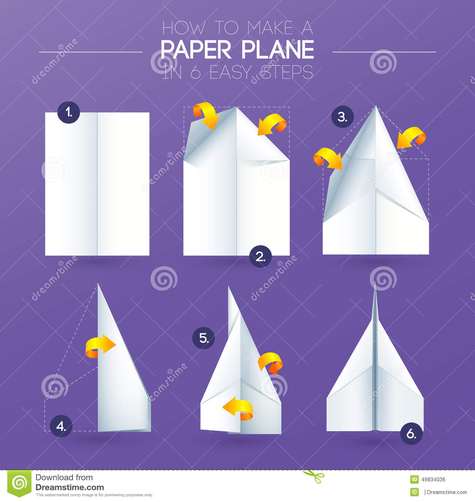 comment faire avion d 39 origami le pliage de papier illustration de vecteur image 49834036. Black Bedroom Furniture Sets. Home Design Ideas