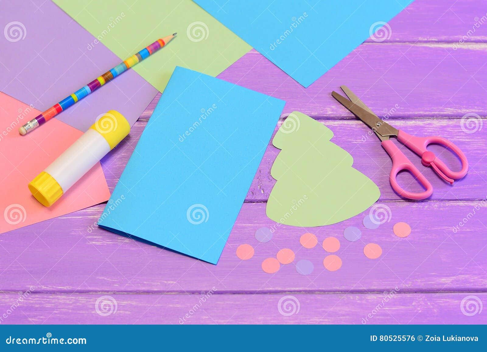 Comment Faire Des Arbres En Papier tout comment faire la carte de noël à partir du papier coloré opération