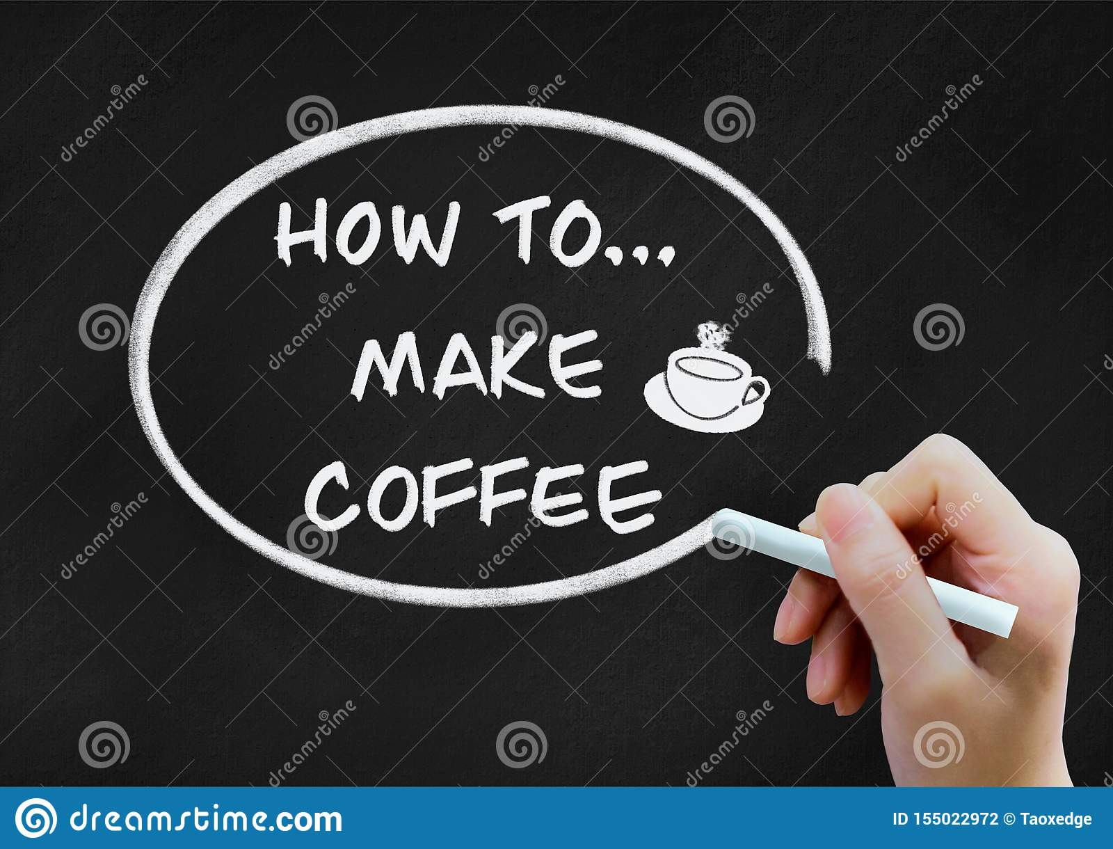 Comment faire le concept de milieux de café sur le tableau