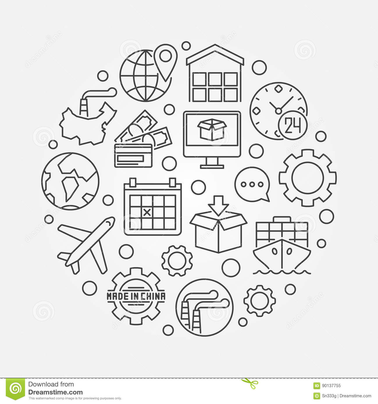 Commerce With China Illustration Stock Vector Illustration Of