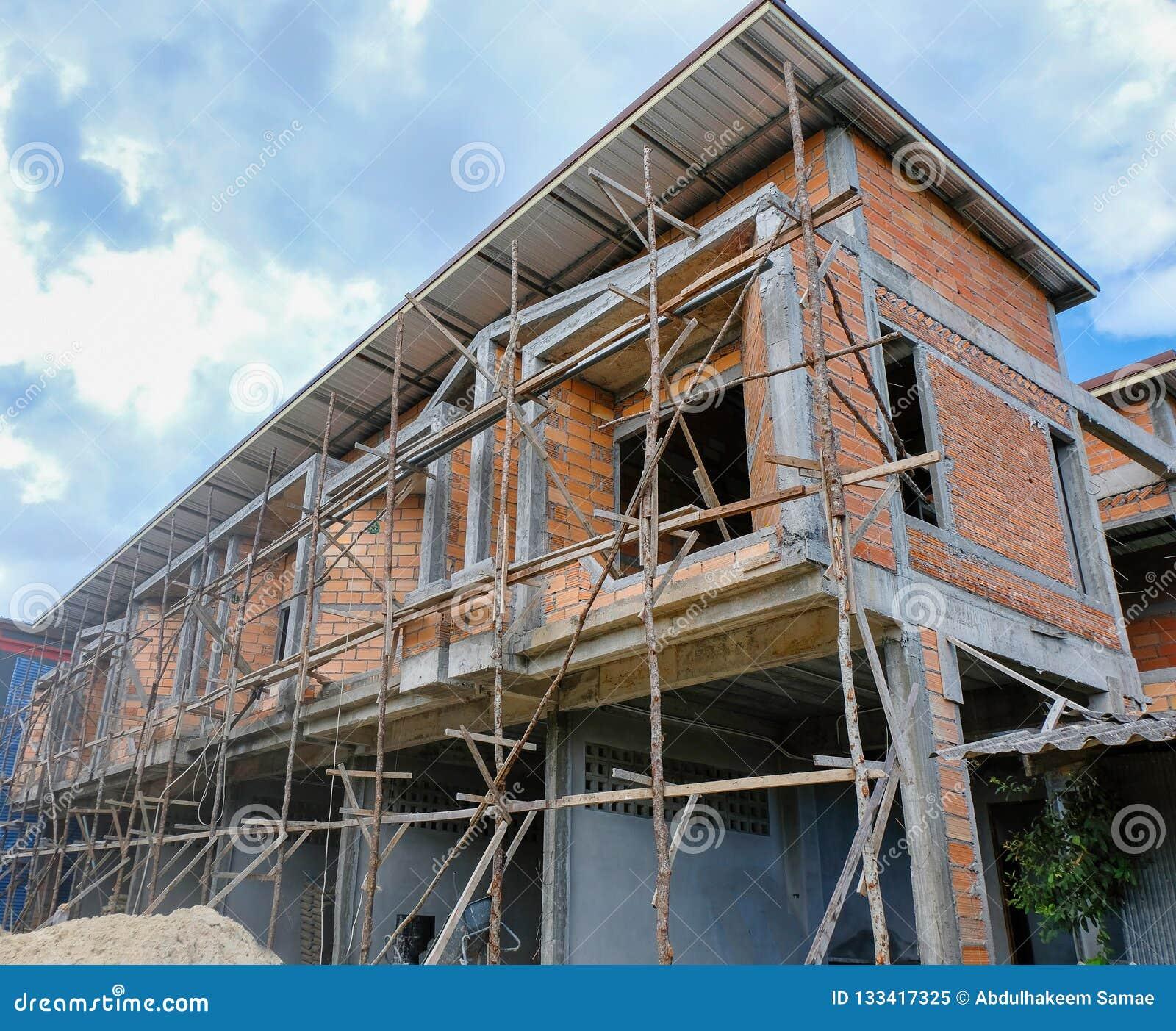 Commerciële gebouwen in aanbouw