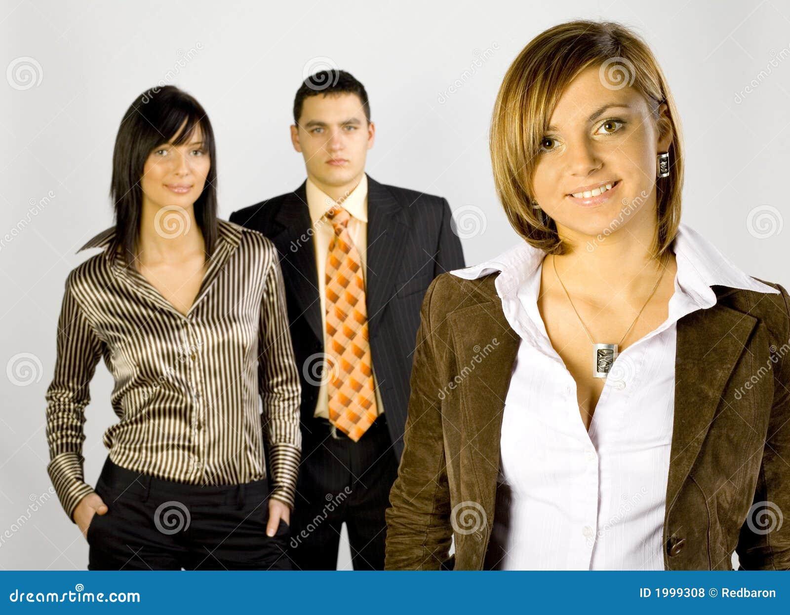 Commerciële Groep met Vrouwelijke Leider