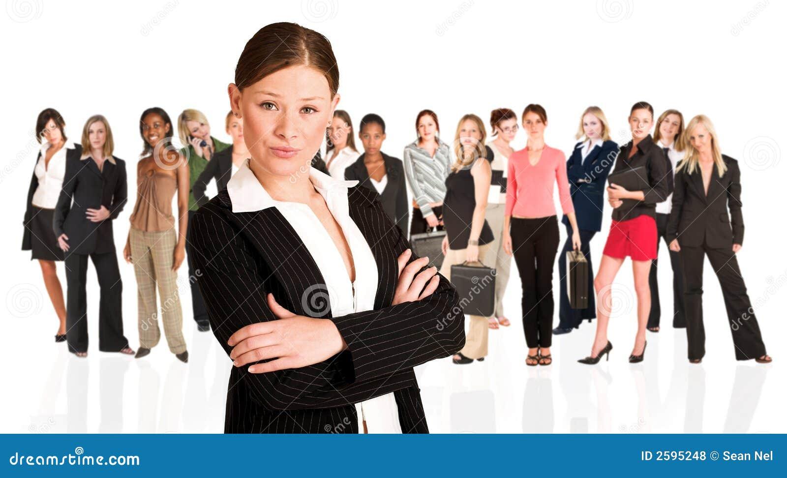 Commerciële groep slechts vrouw