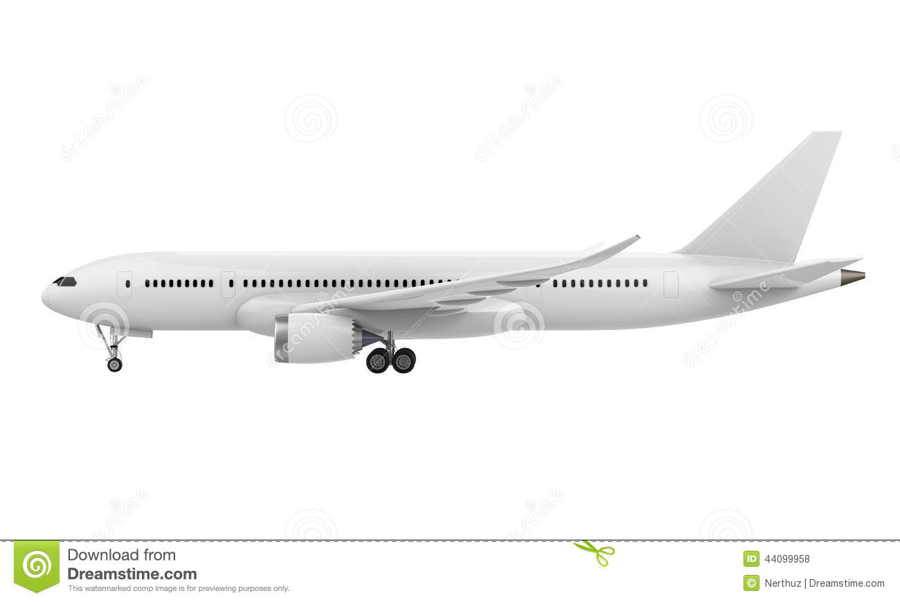 Commercial Airplane Stock Illustration - Image: 44099958