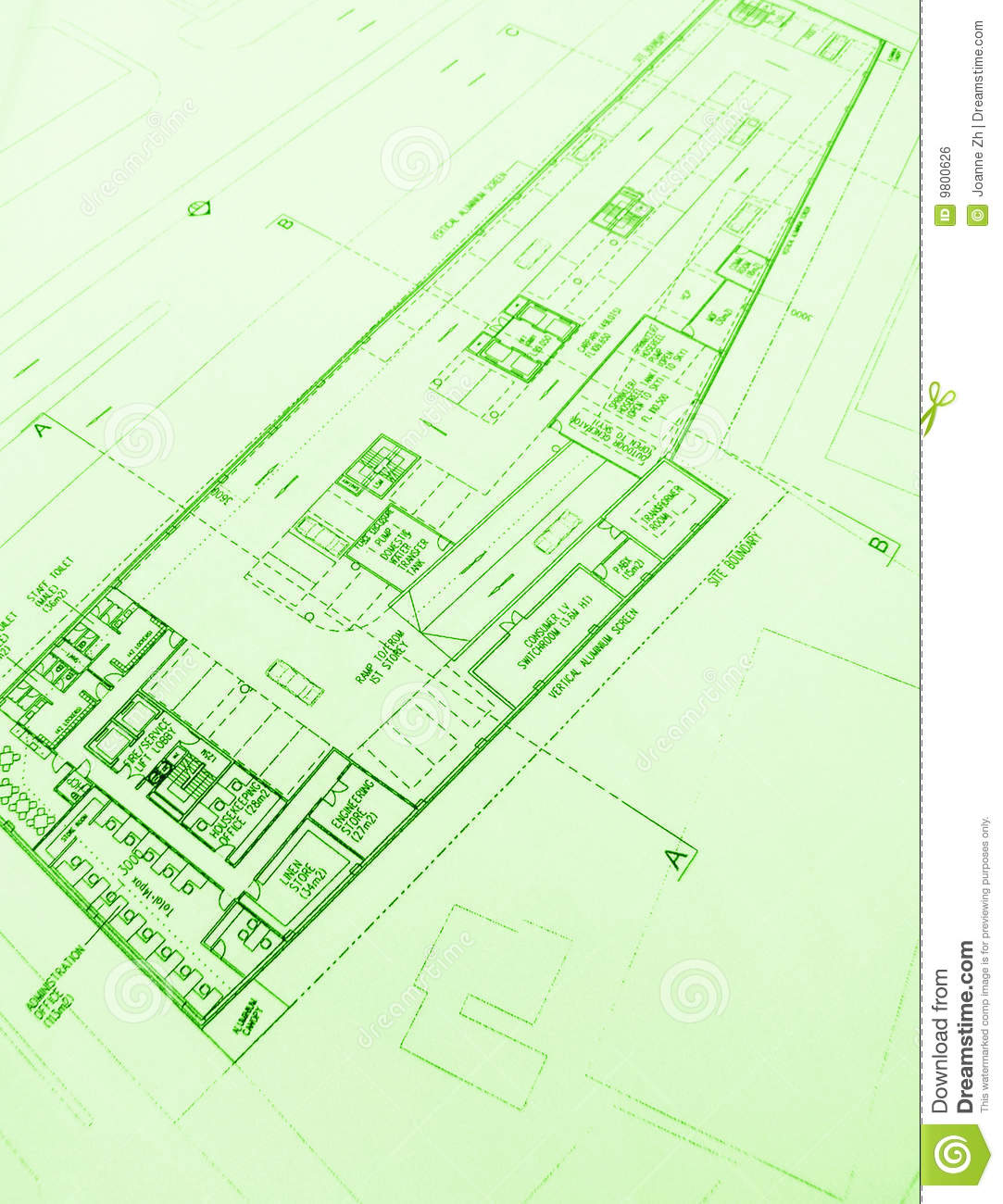 Commercial Architecture Floor Layout Plans Royalty Free ...