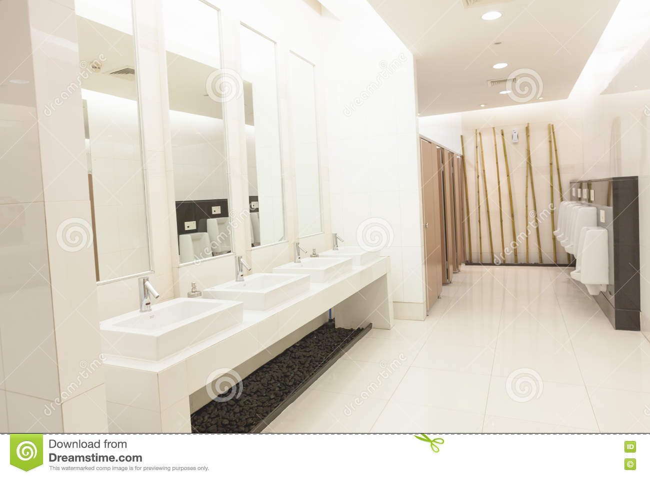 Commercial bathroom. stock photo. Image of corporate - 73021686