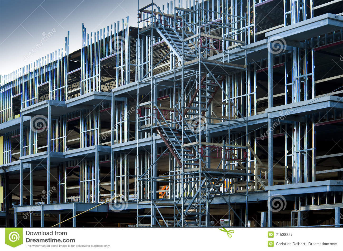 Commercial Building Construction Royalty Free Stock